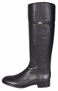 Tory Burch Riding Knee High Leather Black Boots