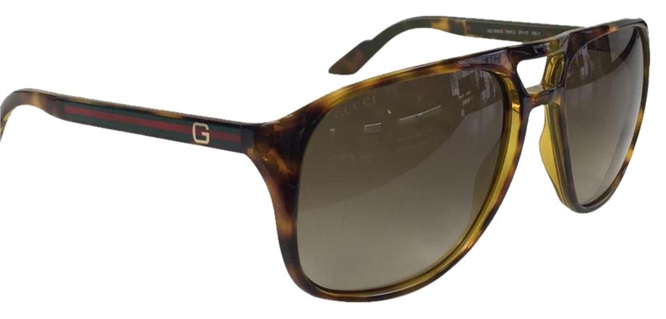 b194cb058d3 Gucci New Gucci GG 1018 S 791CC Havana Green Red Gold Plastic Style  Sunglasses 135mm ...