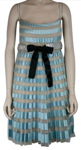 Valentino Runway Silk Blue Silver Crystal Dress