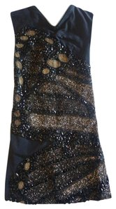 Leila Shams short dress black Beaded Mini on Tradesy