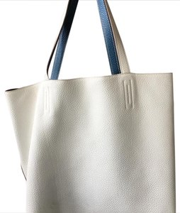 Hermès Tote in blue and white reversible
