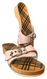 Burberry Light Leather Pink Sandals
