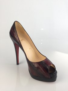 Christian Louboutin Red and Black (RD39) Platforms