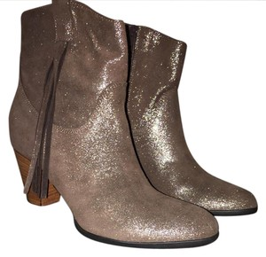 Charles David New Italian GOLD METALLIC SUEDE Boots