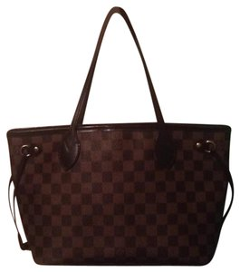 Louis Vuitton Neverfull Damier Ebene Azur Pm Tote in Brown