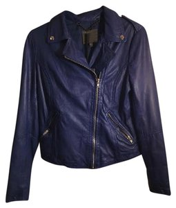 Muubaa Blue Leather Jacket