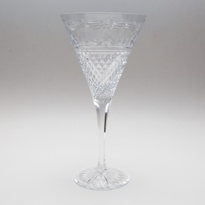 Stuart Beaconsfield Straight Stem Crystal Water Glass 8.25