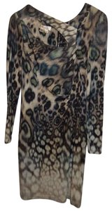 Kay Unger Peacock Stretchy Dress