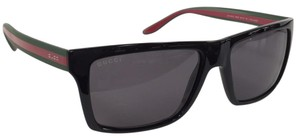Gucci New Gucci GG 1013/S 5N3H Polarized Black Green Red Plastic Style Sunglasses 145mm