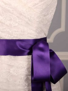 Royal Purple Ribbon Sash 2