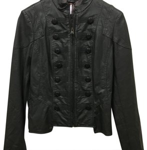 Free People Dark green Leather Jacket