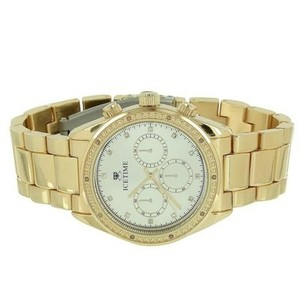 IceTime Icetime Watch Yellow Gold Tone Timezone Look Water Resistant Classy