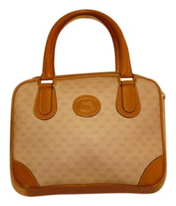 Gucci Satchel in brown and white