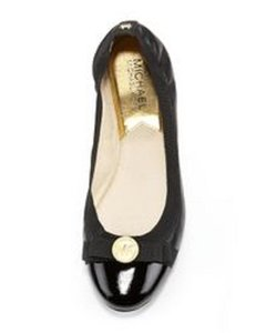 Michael Kors Patent Leather Black Flats