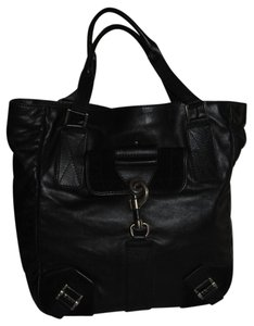 Dior Leather Leather Leather Tote in black