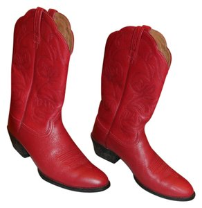 Frye Western Leather Red Boots