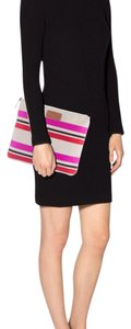 Kate Spade beige with stripes Clutch