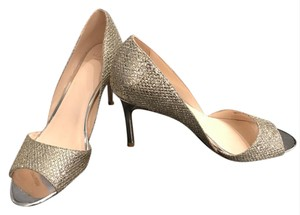 Cole Haan Metallic Formal Wedding Silver, Gold Glitter Pumps