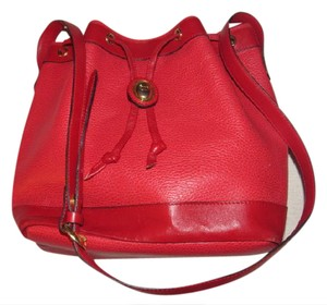 Dior Buttery Drawstring Top Perfect For Everyday Mint Vintage Great Pop Of Color Satchel in true red leather