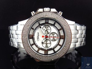JoJino Mens Jojino/Joe Rodeo/Jojo XL Stainless Steel 54mm Real Diamond Watch