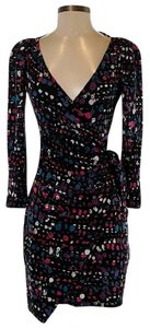 Diane von Furstenberg Silk Print Wrap Dress