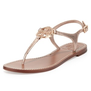 Tory Burch Violet Thong Rose Gold Sandals