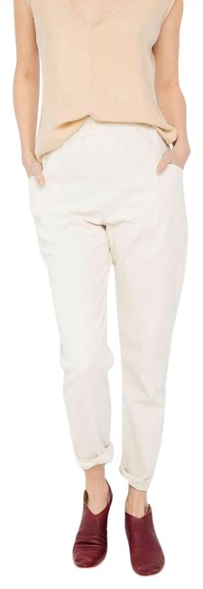 Elizabeth Suzann Sustainable Made In Usa Capsule Trouser Pants White Image 0