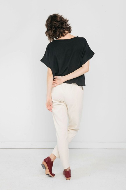 Elizabeth Suzann Sustainable Made In Usa Capsule Trouser Pants White Image 1