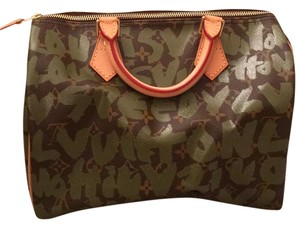 Louis Vuitton Satchel in brown & khaki