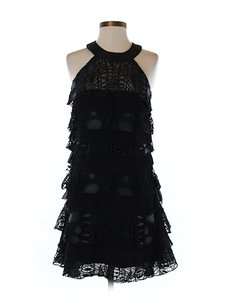 Diane von Furstenberg Silk Lace Shift Tiered Dress