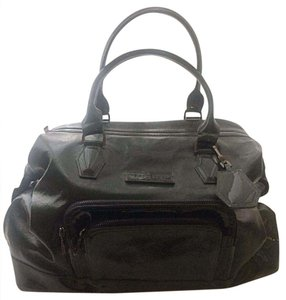 Longchamp Patent Leather Gunmetal Hardware Satchel in Dark green