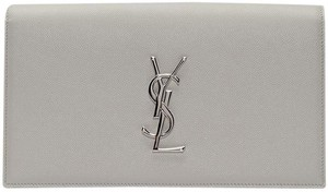 Saint Laurent Grey Clutch