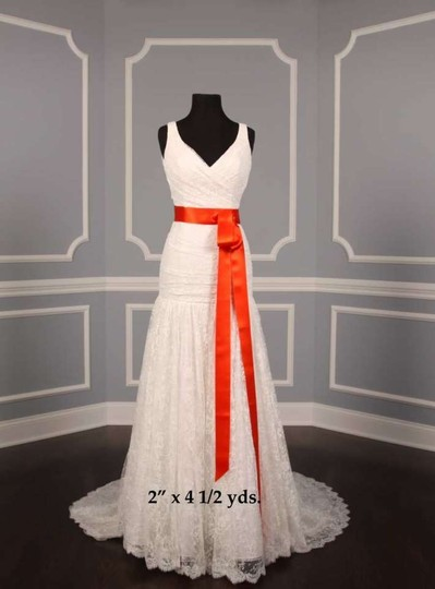 Autumn Orange Ribbon Sash