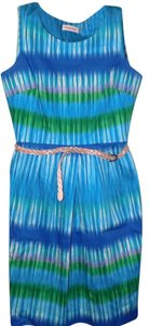 Calvin Klein short dress Multi-Colored Classic Striped Sheath Belted Luxury on Tradesy