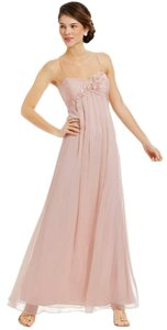 Adrianna Papell Flower Applique Chiffon Gown Formal Gown Prom Dress