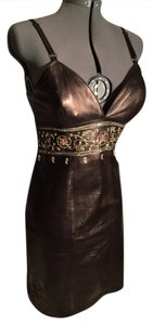Michael Hoban Date Sexy Classy Leather Dress