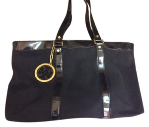 Tory Burch Canvas Tote in black