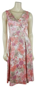 Adrianna Papell short dress Coral - Multi-colored Tea Sz 14 on Tradesy
