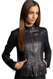 Bagatelle Leather Leather Scuba Front Chic Leather Jacket