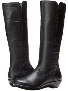 Dansko Darla Leather Leather Black Boots