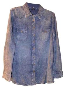 Victoria's Secret Button Down Shirt Denim