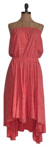 Free People short dress ORANGE Fp Beach Strapless High Low Cut-out on Tradesy