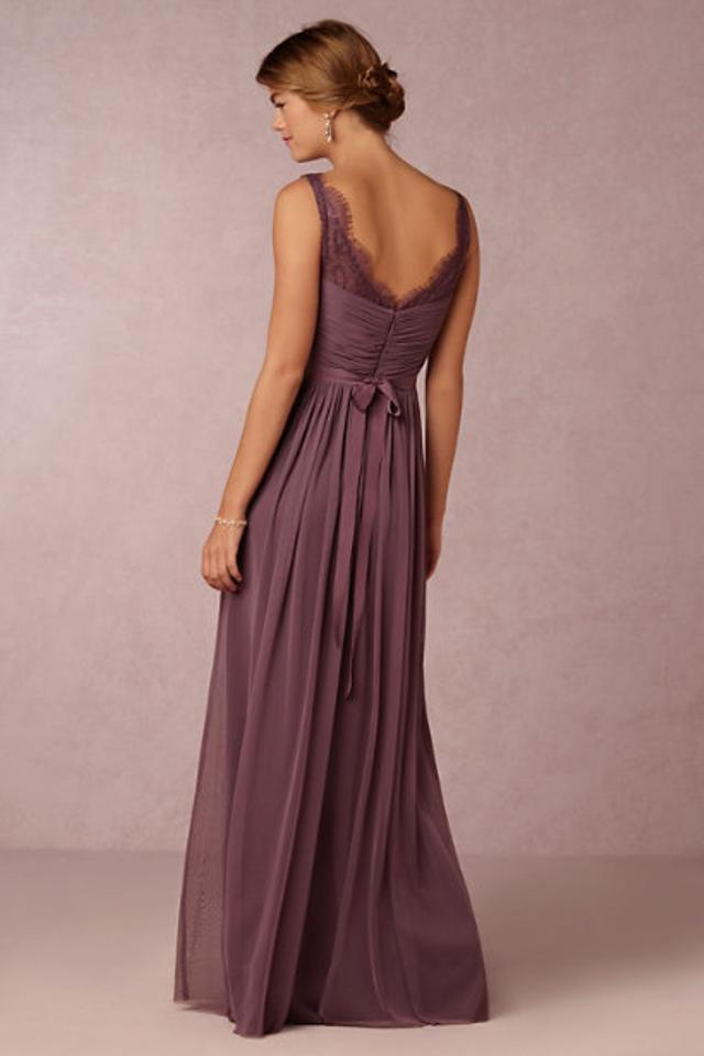 96e9416694 BHLDN Antique Orchid Sheer Lace and Tulle Fleur By Hitherto Feminine  Bridesmaid/Mob Dress Size ...