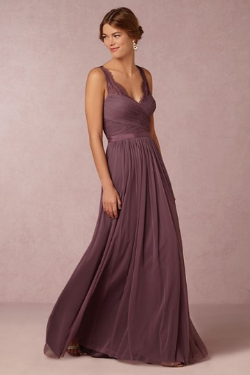 BHLDN Antique Orchid Sheer Lace and Tulle Fleur By Hitherto Feminine Bridesmaid/Mob Dress Size 6 (S) Image 1