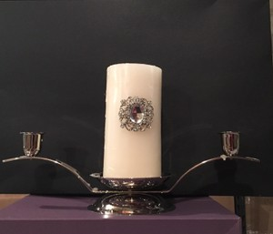 Silver Hoider And Unity Candle