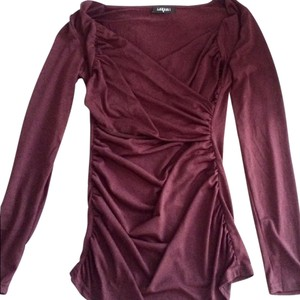 Lakshmi Ruched Stretchy Top Plum