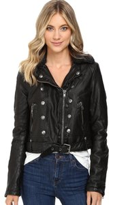 Free People Vegan Leather Biker Moto Motorcycle Motorcycle Jacket