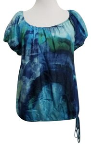 Karen Kane Top Blue Green