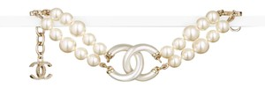 Chanel CHANEL METAL AND GLASS PEARL BRACELET