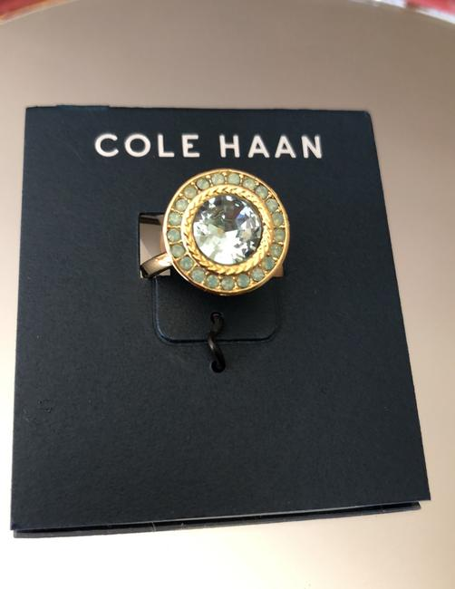 Cole Haan Mint Green Crystals/Gold Tone Logo Ring Cole Haan Mint Green Crystals/Gold Tone Logo Ring Image 6